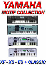 YAMAHA MOTIF XF, XS, ES + CLASSIC SAMPLE COLLECTION, ALL SAMPLES IN WAV FORMAT