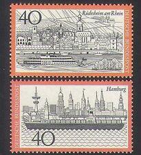 Alemania 1973 Barcos De Turismo// edificios/barcos/Ferry/animación 2v Set (n35402)