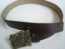 BETSET JOHNSON LEATHER BELT SIZE 34-30  $99 HOT RARE