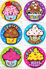 Cupcake Cuties Scratch and Sniff Stickers x 12 - Rewards, Scent Favours Birthday