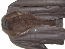 Mens Winter Sheepskin and Shearling Leather Jacket Size M