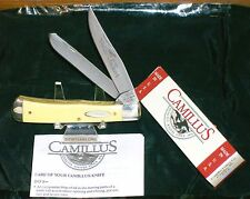 "Camillus 717 Trapper USA Knife ""Yello Jaket"" Inscribed W/Packaging,Paperwork"