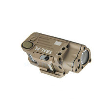 SBAL-PL LED Light Tactical Flashlight With Red Laser  Dual Beam Aiming Tan