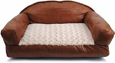 Dallas Manufacturing Co. 29-Inch by 19-Inch Faux Leather Sofa Pet Dog Bed NEW
