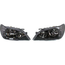 NEW SET OF 2 CLEAR HALOGEN HEAD LAMP LENS AND HOUSING BLACK FITS LEXUS IS300