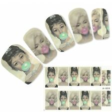 Nagel Sticker Aufkleber Marilyn Monroe Nail Art Nägel Fuß Water Decal