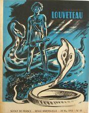 Louveteau n°10 - 1955 - Scout de France - Construction d'un filet Rond - Le Feu