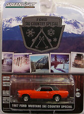 GREENLIGHT COLLECTIBLES 1:64 SCALE DIECAST METAL RED 1967 FORD MUSTANG COUPE