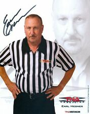 EARL HEBNER TNA SIGNED AUTOGRAPH 8X10 PROMO PHOTO W/ COA