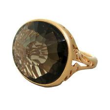 New Pomellato Arabesque Smokey Quartz 18k Gold Ring