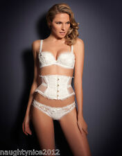 AGENT PROVOCATEUR STUNNING IVORY PETRONELLA WASPIE SIZE 4 LARGE UK 12-14 BNWT