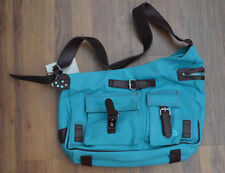 Petit Planet Canvas Urban Cambio Changing Bag in Turquoise.