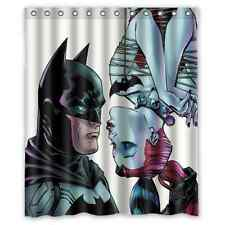 New Design Custom Batman And Harley Quinn Waterproof Fabric Shower Curtain 60x72