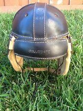 Near Minty Old Vintage ALL Black REACH Leather DOG EAR Antique Football Helmet