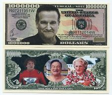ROBIN WILLIAMS SPECIAL COMMEMORATIVE 1 MILLION DOLLARS NOTE COLOR NOVELTY MONEY