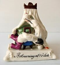 "Victorian Fairing ""RETOURNING AT 1 O'CLOCK"" Ceramic Figurine"