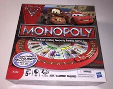 Disney Pixar Cars 2 Monopoly Board Game Parker Brothers Ages 5+ Lighting McQueen