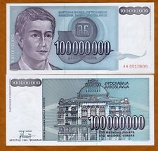Yugoslavia, 100,000,000 (100000000) Dinara, 1993, P-124, AA-Prefix, UNC
