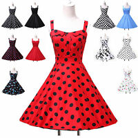 Petticoat Sexy Vintage 50s Polka Dots Party Swing Housewife Dresses