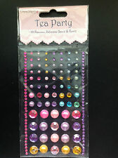 Dovecraft - Tea Party - 144 Premium Adhesive Gems & Pearls - Lovely Colours