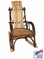Rustic All Hickory Amish child's Rocker Kids Children's (Quick Ship)