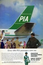 1965 Pakistan International Airlines PIA Boeing 720B departing  PRINT AD