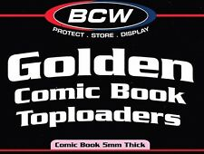 10 Crystal Clear Rigid Golden Age Comic Book Toploader Holder Display - NEW BCW