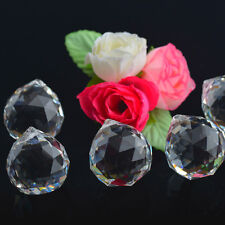 30MM Crystal Chandelier Part FengShui Dec Faceted Glass Ball Prism Pendant 10PCS