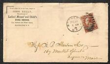 SCOTT #210 STAMP ROCHESTER NEW YORK JOHN KELLY FINE SHOES ADVERTISING COVER 1884