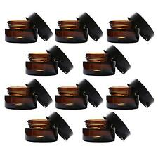10pcs 20 Gram Amber Empty Cosmetic Containers Glass Sample Jars