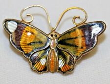 SIGNED DAVID ANDERSON STERLING BUTTERFLY BROOCH PIN