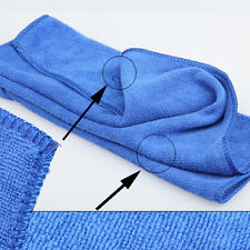 NEW Microfiber Towel Car Wipe Cloth Cleaning Clothes Wash Cleaner 70*30cm Blue