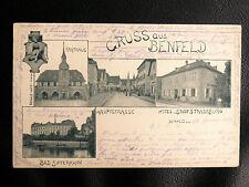 CPA BAS RHIN 67 : GRUSS AUS BENFELD - HOTEL STADT STRASSBURG - 28 2 98 (1898)