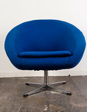 Mid Century Modern Lounge Chair Overman AB Blue Swedish Egg Pod Space Age MCM