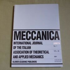 Meccanica 36_1 2001_International Journal of Theoretical and Applied Mechanics