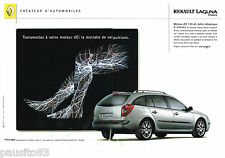 PUBLICITE ADVERTISING 065  2001  RENAULT  LAGUNA  ESTATE DCI ( 2p)