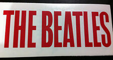 THE BEATLES Red Block Logo RUB-ON car window STICKER OFFICIAL NEW MERCHANDISE