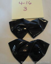 1950's Cute Vintage Navy Blue Vinyl Twisted Bow Ladies' Shoe Clips