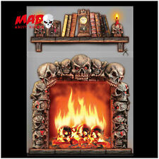 Haunted House Wall Decoration- Halloween Room Scene Setter Dungeon Skeleton