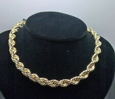 "10K Yellow Gold Thick Rope Chain 32"",8mm Franco,Italian,Miami , Cuben"