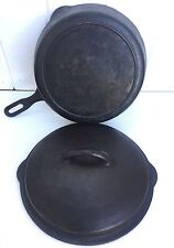 Griswold Cast Iron Chicken Pan Fryer No. 8 Marked 1034B with Lid - Original Cond