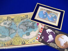 Vintage Globe World Earth USA Decal Paper set Lot Meyercord