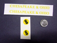 A Set Of Lionel Post-War #624 C&O Diesel Decals
