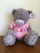 "Me To You 'I Love You Mum' Tatty Teddy Grey Bear 12"" Sitting SMALL FAULT"
