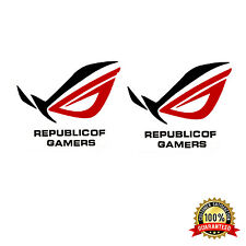 NEW SET 2 ASUS ROG REPUBLIC OF GAMERS CASE BADGE METAL DIE-CUT STICKER DIY MODS