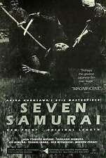 Seven Samurai 1954 Movie Poster Version F 14x20 inches
