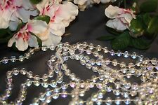 18 FT 8MM Clear Iridescent Opalescent Wedding Pearl Bead Garland Rope