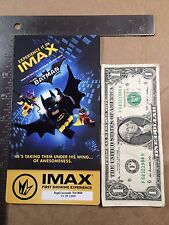 """""""The LEGO Batman Movie"""" IMAX First Showing Experience Collectible Ticket Regal"""