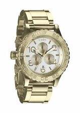 AUTHENTIC NIXON 42-20 CHRONO WATCH CHAMPAGNE GOLD/SILVER A037-1219 NEW! A0371219