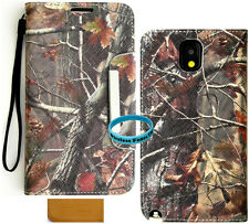 Camo Mossy Hunter Wallet Purse PU Leather Case Samsung Galaxy Note 3 III N9000